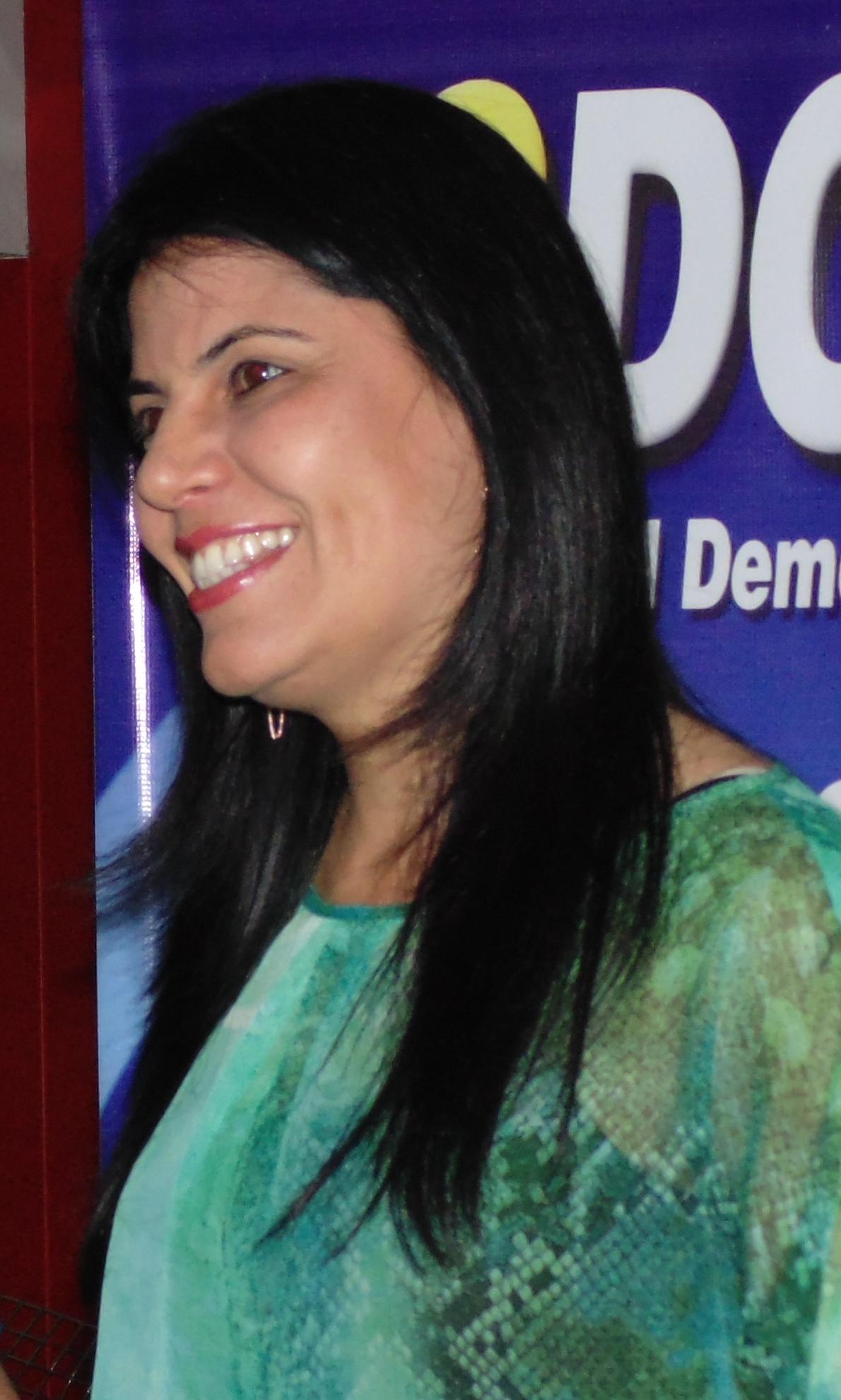 A Presidente Nacional do PSDC Mulher Glaucione Rodrigues. (Foto: Assessoria de Imprensa).