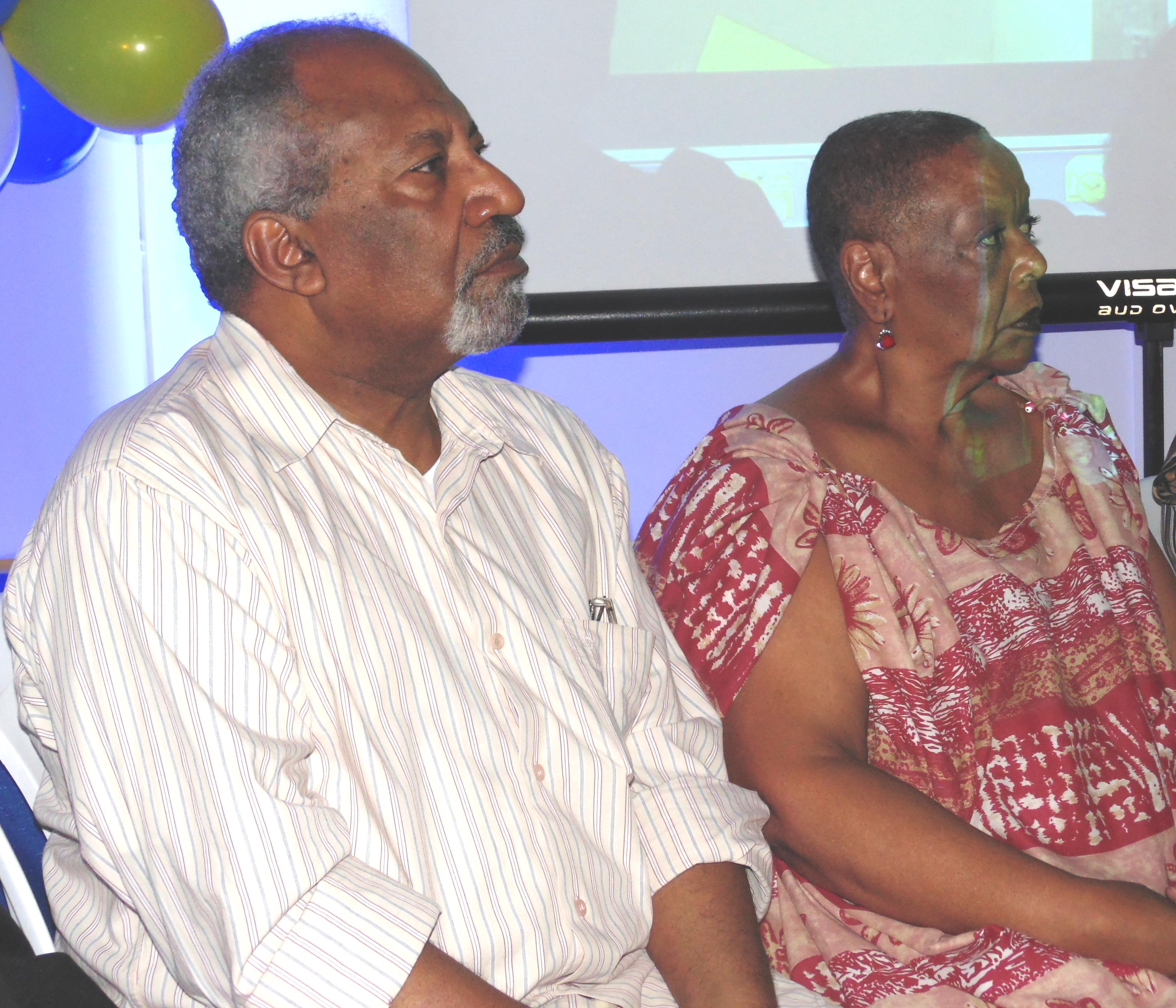 O ativista contra todo tipo de racismo, Moisés da Rocha e a líder do movimento Cleusa Amarante. (Foto: Ass. de imprensa PSDC)