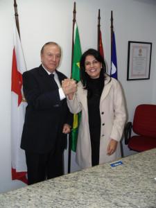 Visitas ilustres: A Deputada de Rondônia Glaucione Rodrigues.