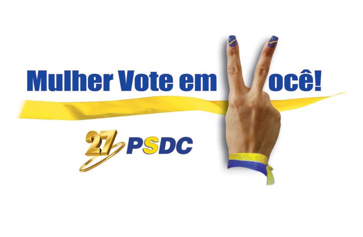 Mulher vote em você: PSDC 27